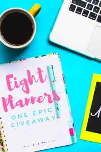Be the first to know when the Big Planner Giveaway goes live at idyllicpursuit.com