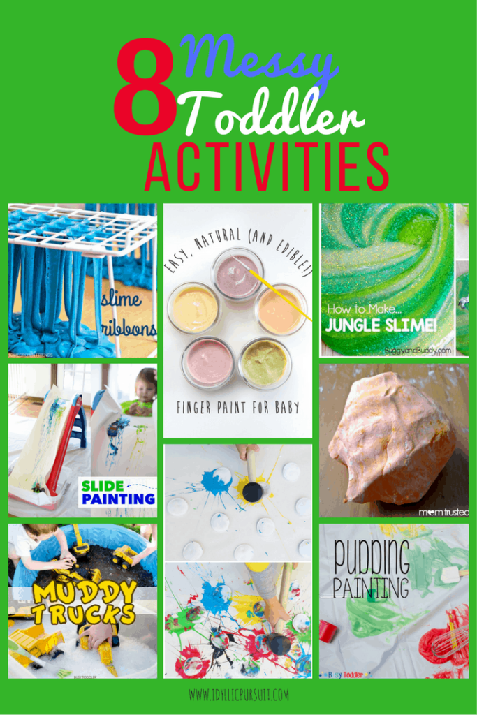8 Messy Toddler Activities at idyllicpursuit.com