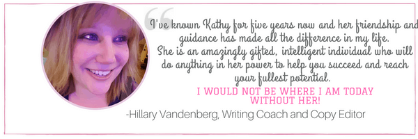 Testimonial from Hillary Vandenberg about Kathy Haan at idyllicpursuit.com