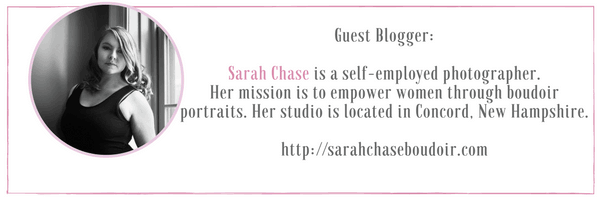Sarah Chase Guest Blogger at IdyllicPursuit.com talking about body love through boudoir