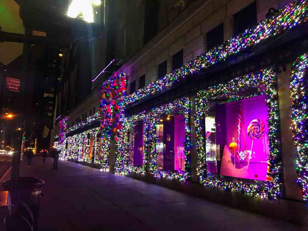 How to Spend a Week in NYC with Family. We loved the Christmas lights on 34th Street!