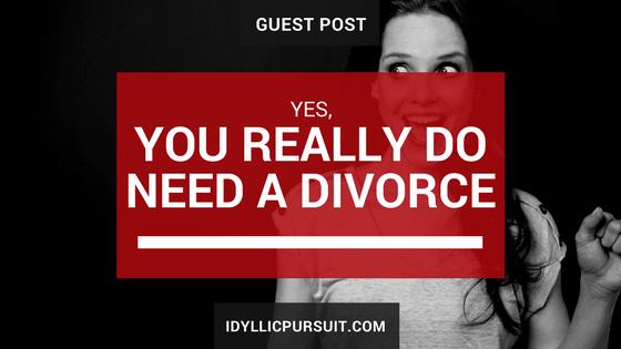 C. René Washington on why you really do need a divorce at idyllicpursuit.com