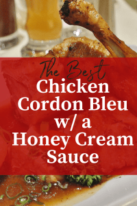 Chicken Cordon Bleu w/ a honey cream sauce