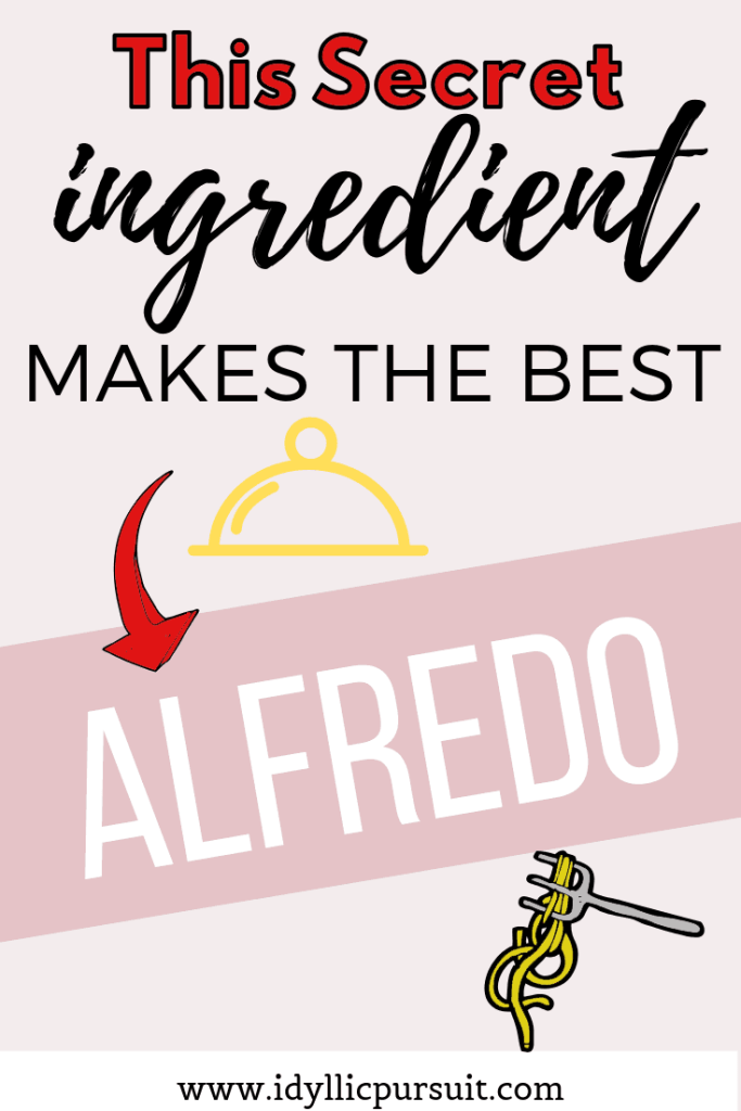 This secret ingredient makes the best alfredo sauce. An image of a pasta dish.