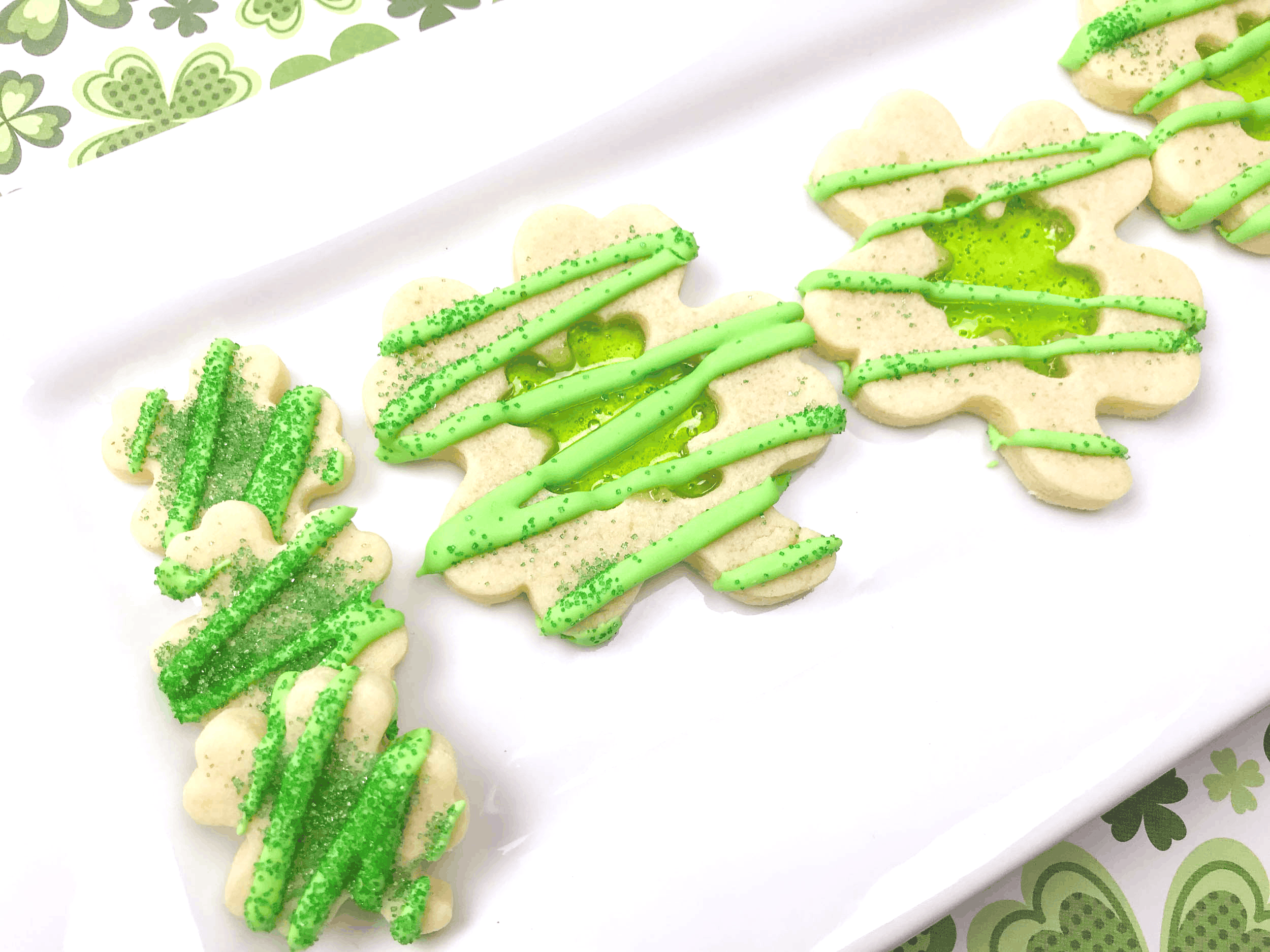 Easy Luck of the Irish Stain Glass Cookies