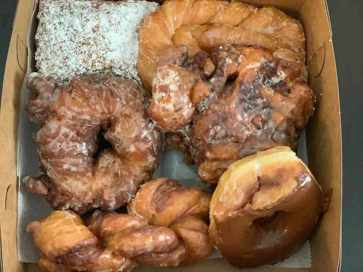 Box of donuts from the Butler County Donut Trail