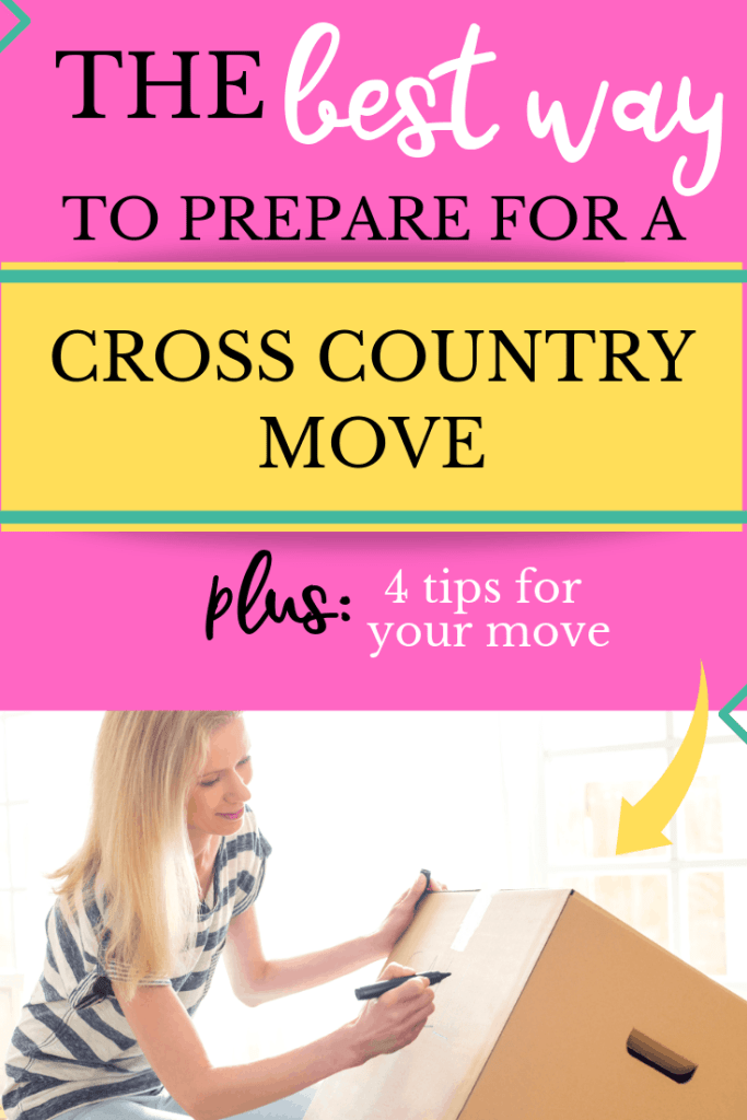 How to prepare for a cross country move