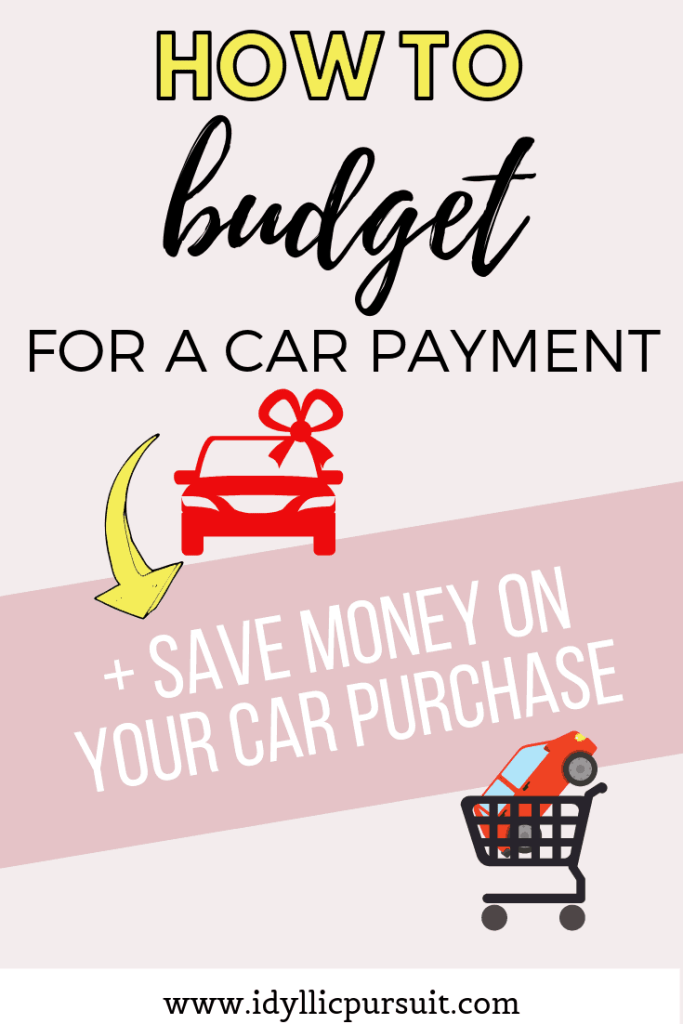 How to budget for a car payment and save money