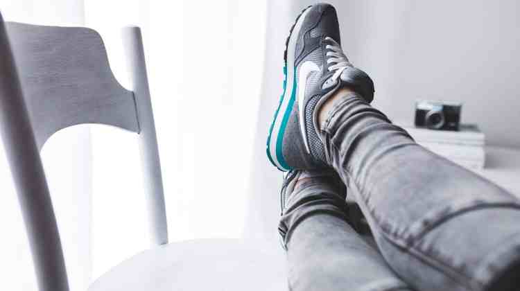 How to make moving less stressful. Feet up on chair