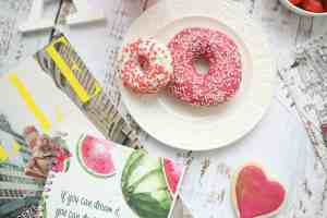 donuts on a plate for the Butler County Donut Trail