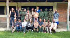 Biosphere Expeditions posing with staff from Enonkishu Conservancy in Kenya