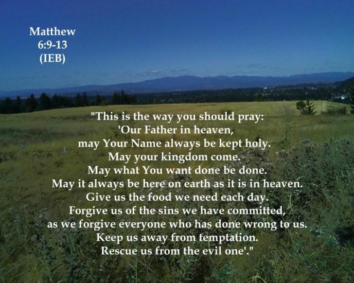 Matthew 6: 9-13 Prayer Image