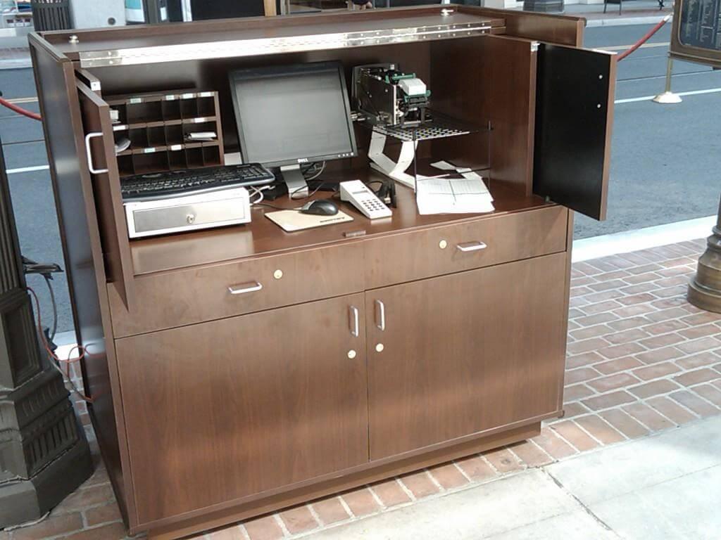 hotels with kitchens in san diego kitchen design dayton ohio custom reception desks   i&e cabinets
