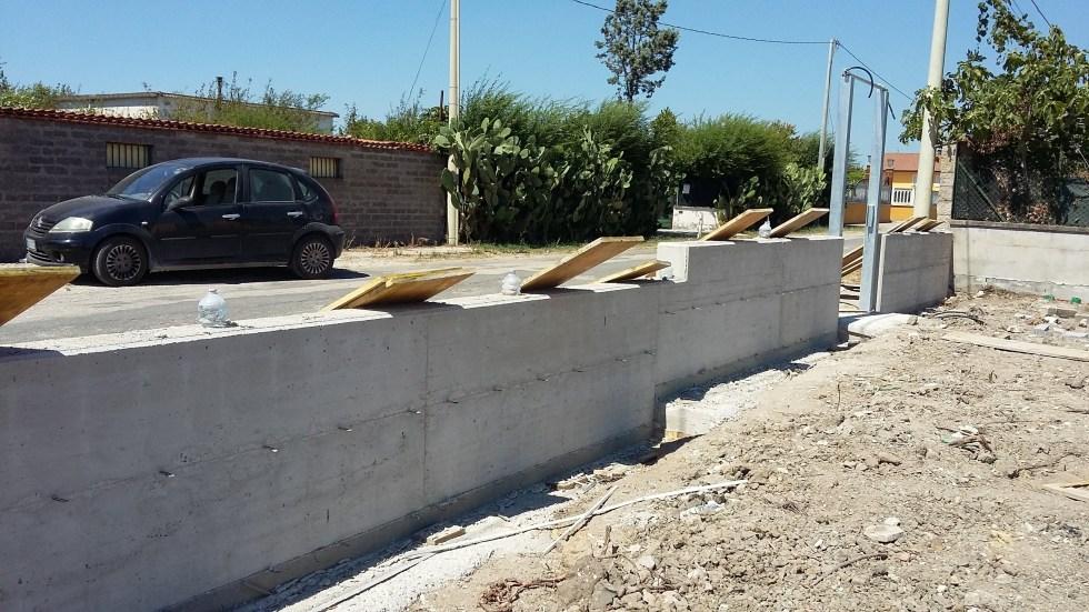 Recinzione privata in Cemento Armato sita in Aprilia