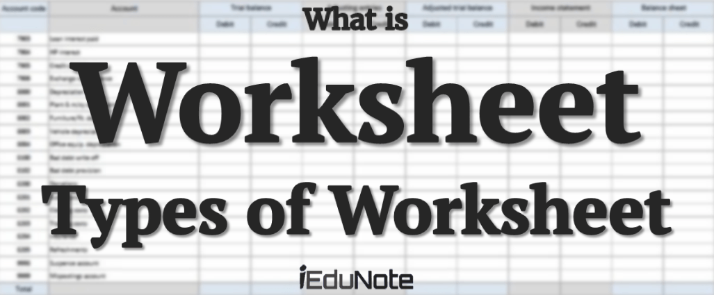 What Is Worksheet Types Of Accounting Worksheet