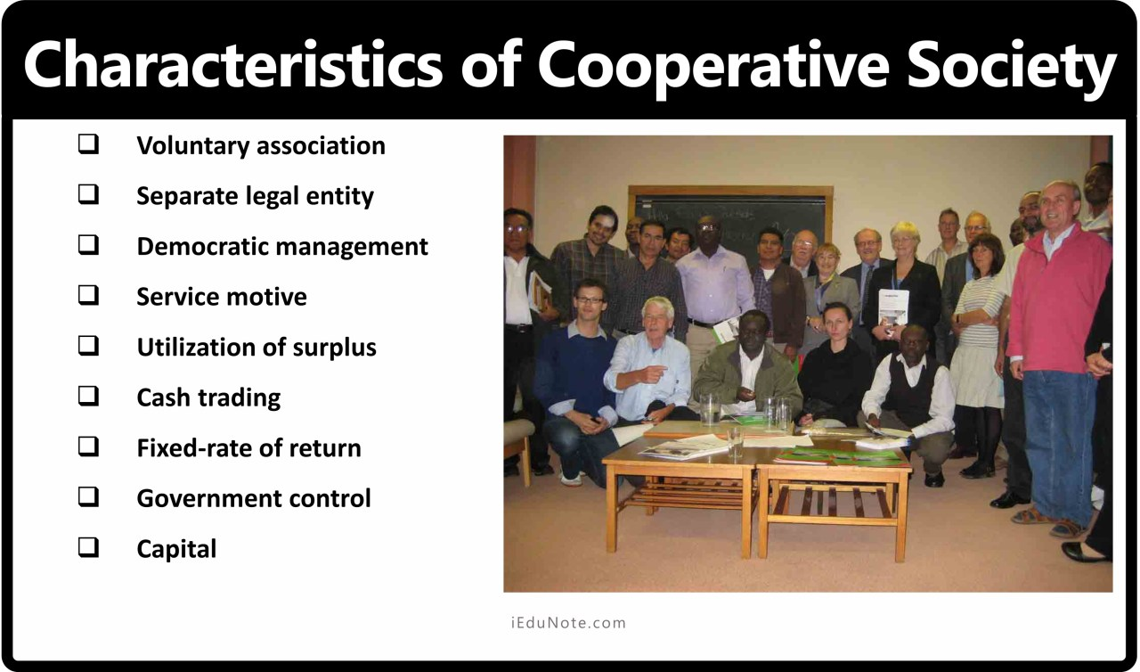 Characteristics of Cooperative Society