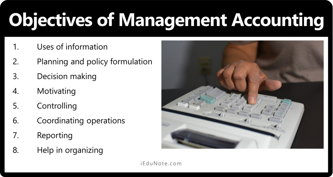 Objectives of Management Accounting