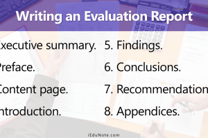 How to Write an Evaluation Report