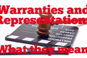 Insurance Representations and Warranties