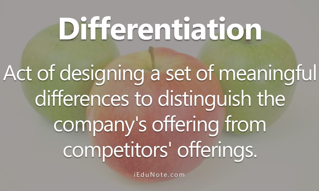 Concept of Differentiation