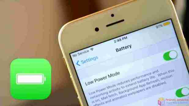 How to use low-power mode on iOS 9