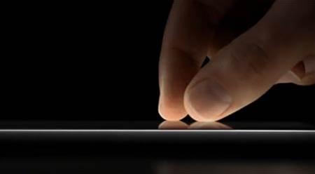Screen that can read fingerprints