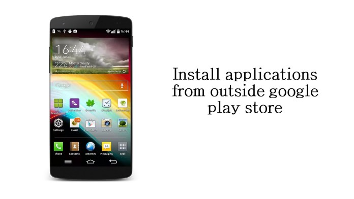 Install apps outside of Google Play, Install applications that aren't available on the Google Play store