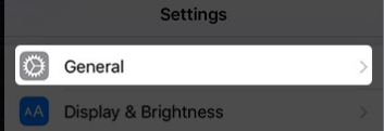 Tap Settings Then General in iOS: How to Block Websites on iPhone and iPad in Safari iOS 8, iOS 9 and iOS 10