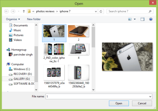 Now just select any image and Click open: Convert png to jpg without losing quality