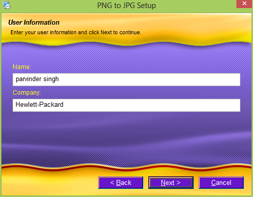 just fill it and Tap on next to move further.: Convert png to jpg without losing quality