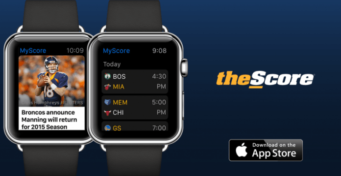 Best apple watch apps: TheScore
