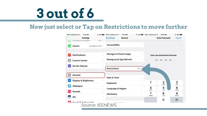 How to limit data usage on iPhone With Pictures: just select or Tap on Restrictions to move further