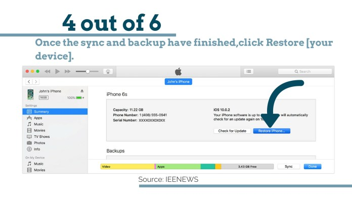 Restore [your device].: How to Bypass iPhone 4 passcode Using iCloud