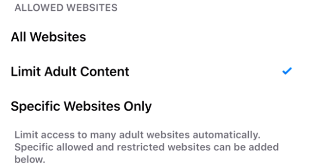 Limit Adult Content : How to block websites on iPhone safari, Chrome Firefox browser: parental control or iPhone restrictions: blacklist specific content or sites in Safari for iPhone and iPad
