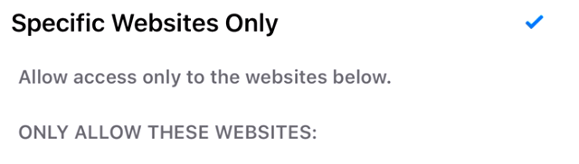 Add a Website: How to block websites on iPhone safari, Chrome Firefox browser: parental control or iPhone restrictions: blacklist specific content or sites in Safari for iPhone and iPad