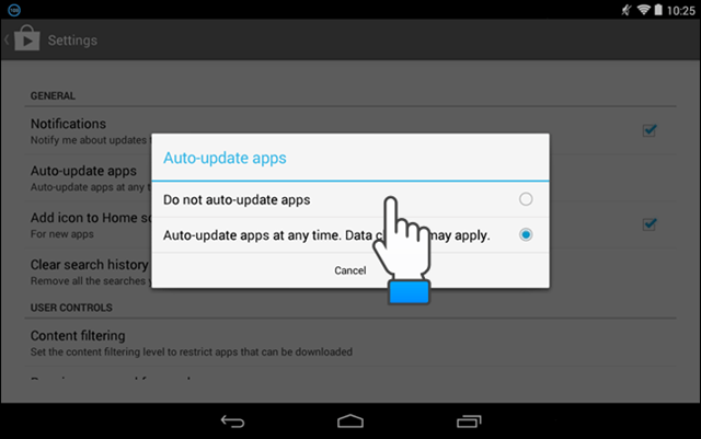 Disable Auto App Update.: How to reduce data usage on android