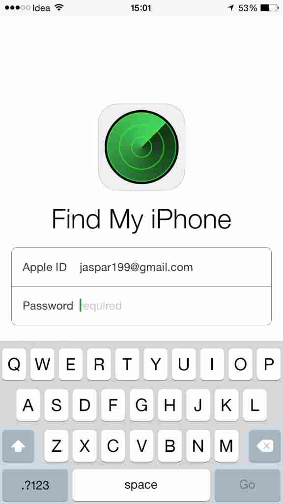 USING FIND MY IPHONE APP