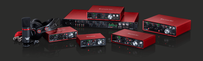 Focusrite Scarlett 2i2: Best Budget Audio Interface: Best USB Audio Interface for Music Production: Best professional audio interface; Best Audio interface for Mac