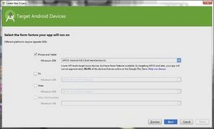Open a New Project in Android studio: How to create an android app : Build an android app Using Android Studio