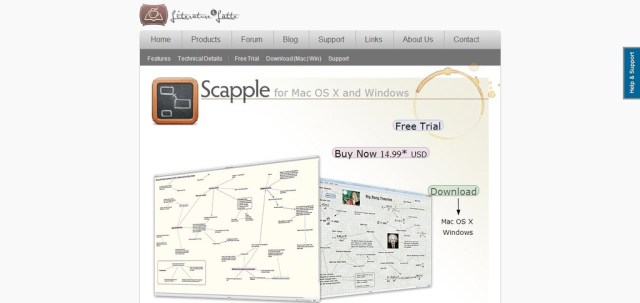 Scapple: Cheap Low Cost Mind mapping software for Mac and Windows