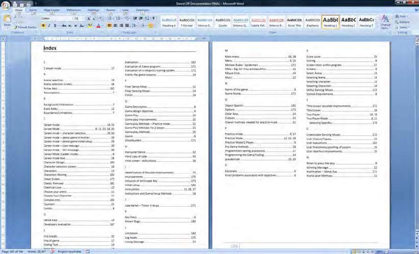 How to create index in word 2016 create table of contents for Table design word