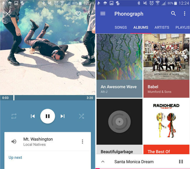 Phonograph The best music players for Android 2017