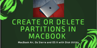 How to create or delete partitions in MacBook Air, Os Sierra and OS X with Disk Utility