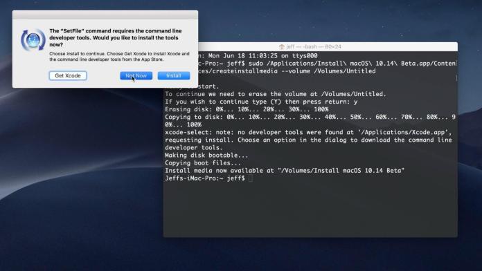 create a bootable macOS Mojave  USB drive