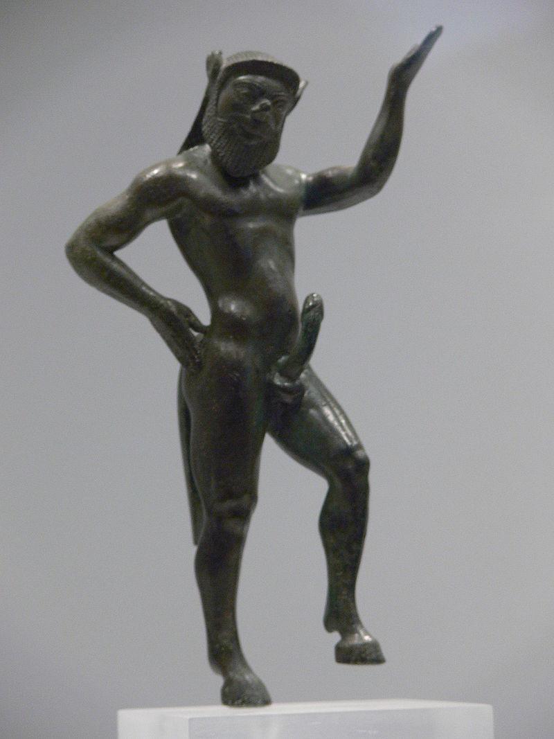 Ορειχάλκινο άγαλμα του σάτυρου Σειληνού.
