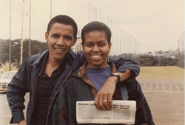 Η Μισέλ και ο Μπαράκ Ομπάμα στα πρώτα χρόνια του γάμου τους