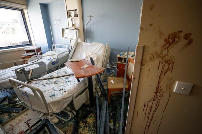 Καταστροφές σε δωμάτιο νοσοκομείο στη Βηρυτό