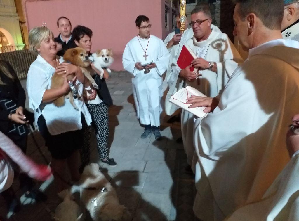 Πιστοί πήγαν τα ζώα τους να πάρουν την ευλογία του Αγίου Φραγκίσκου της Ασίζης