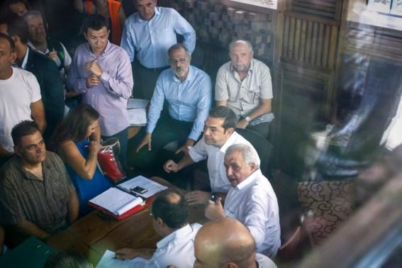 Ο Αλέξης Τσίπρας στην σύσκεψη με τους πυρόπληκτους- φωτογραφία eurokinissi