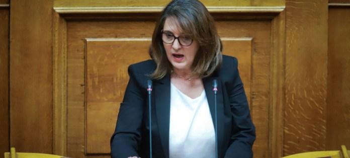 Η Ολυμπία Τελιγιορίδου/ Φωτογραφία: EUROKINISSI- ΓΙΩΡΓΟΣ ΚΟΝΤΑΡΙΝΗΣ